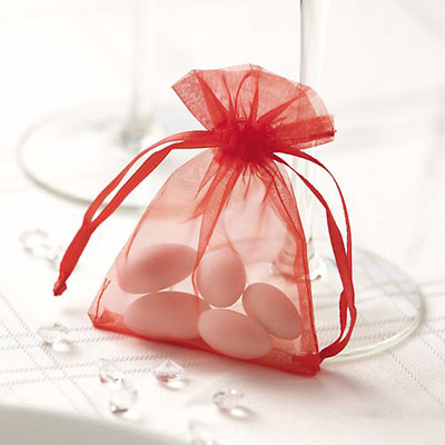 Organza Red Favour Bags