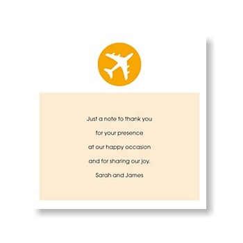 Holiday Ticket Thank You Card in Tangerine