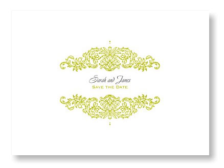Refined Reflection Save the Date Card