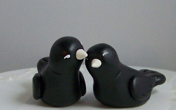 Etsy Lovebirds Cake Toppers
