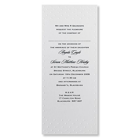 Polka Dot Evening Invitations