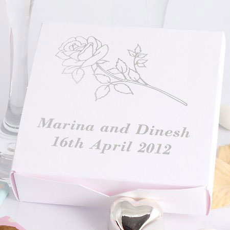 wedding cake boxes blank or personalised