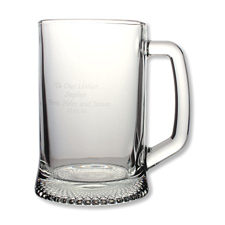 1 Pint Personalised Glass Tankard