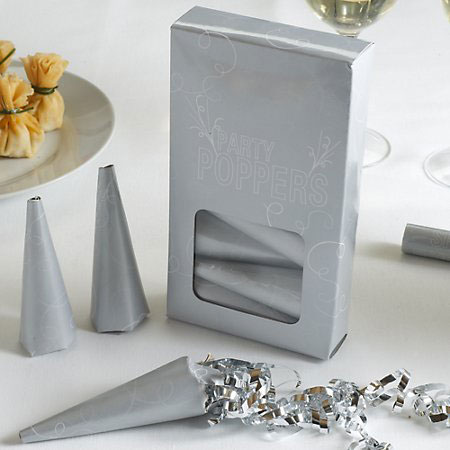 Silver Wedding Party Poppers