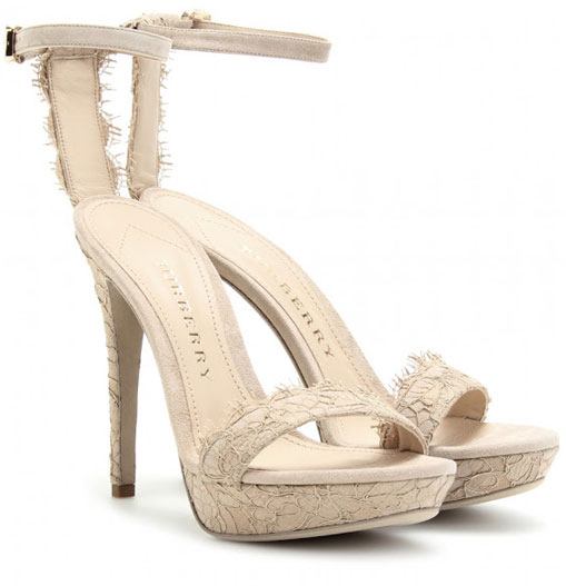 Burberry Polesden Chantilly Lace Sandals