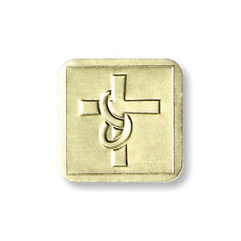 Gold Embossed Cross Seals