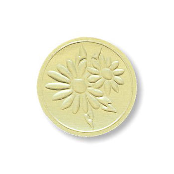 Gold Embossed Daisy Seals