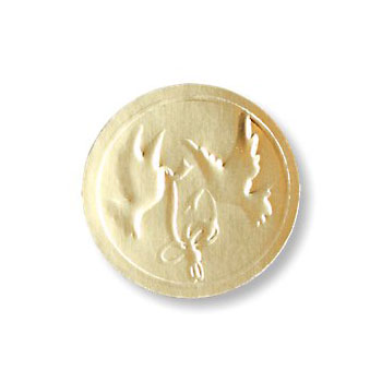 Gold Embossed Dove Seals