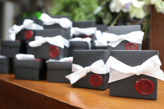 Wedding Favour Boxes with Seals