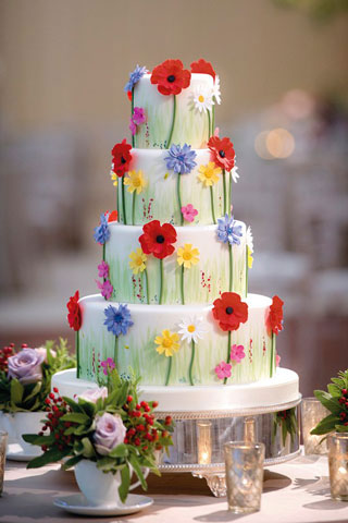 Garden Wedding Cake Theme