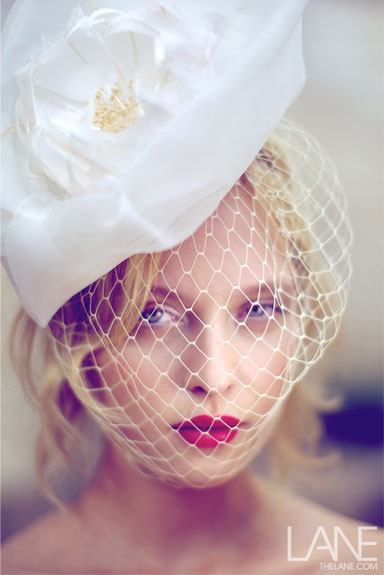 Suzy O'Rourke White Wedding Headpiece