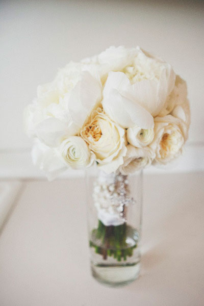 White Bouquet of Peonies
