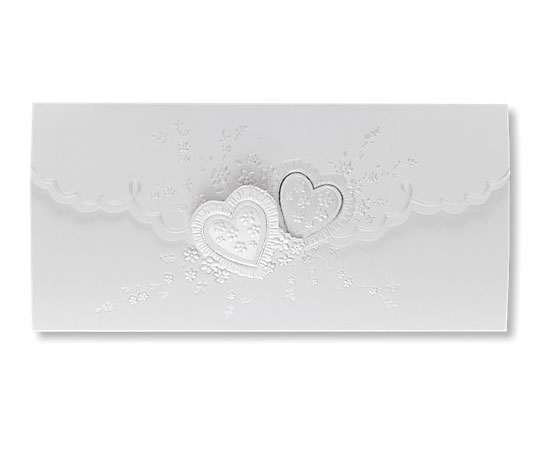 White Romantic Heart Day Invitations