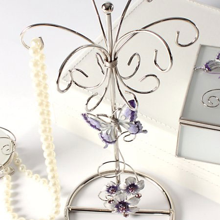 Juliana Purple Butterfly Jewellery Holder