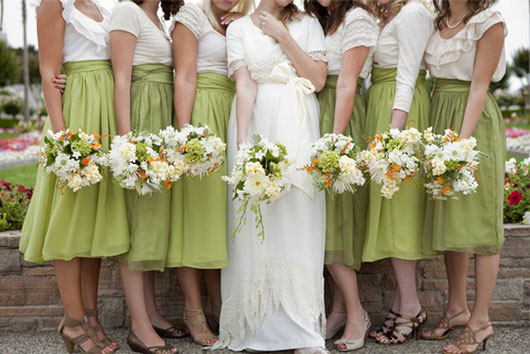 Bridesmaids Skirts not Dresses!