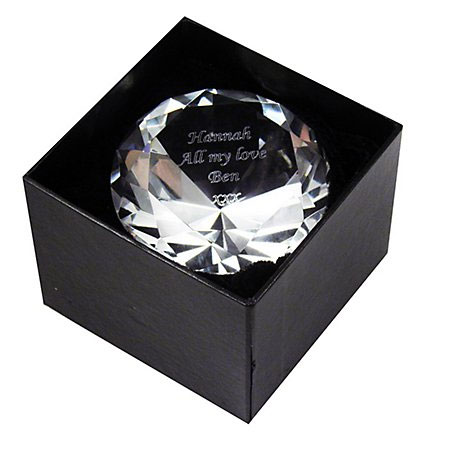 Personalised Diamond Crystal Paperweight
