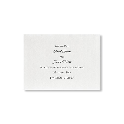 Eternal Save the Date Card