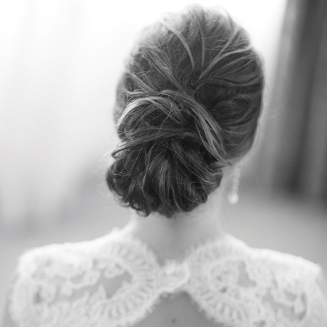 bun wedding hairstyle