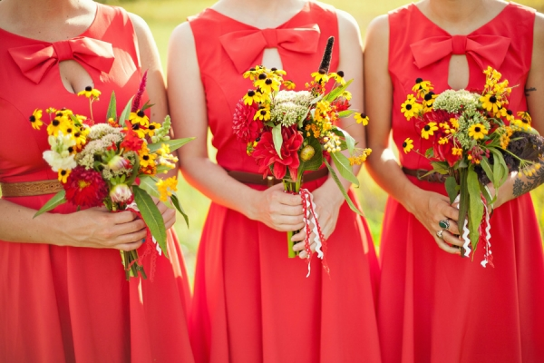Poppy Red Bridal Attire