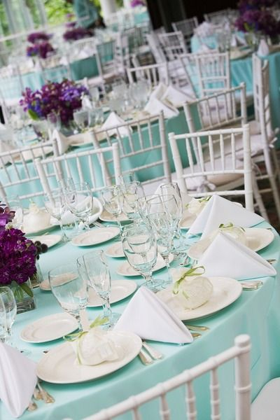Blue Wedding Table Set