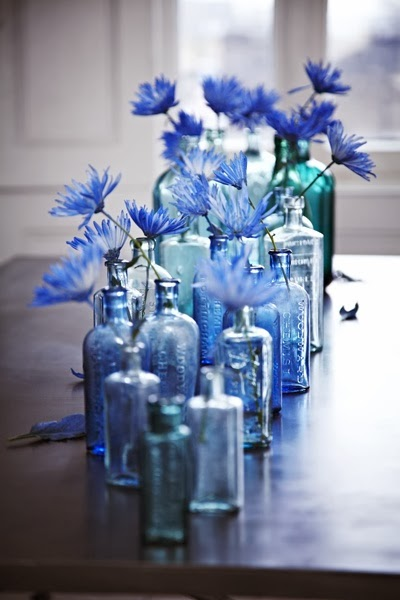 Blue Wedding Centrepieces