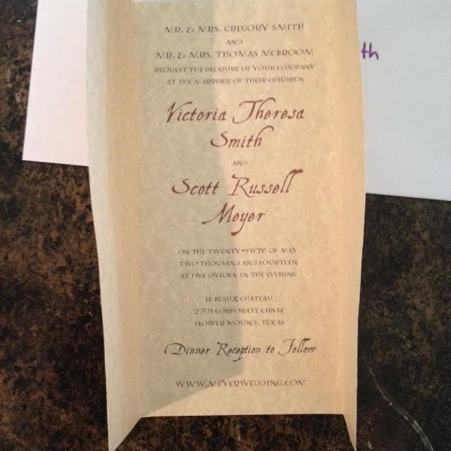 the wedding of tori scott - Harry Potter Wedding Invitations