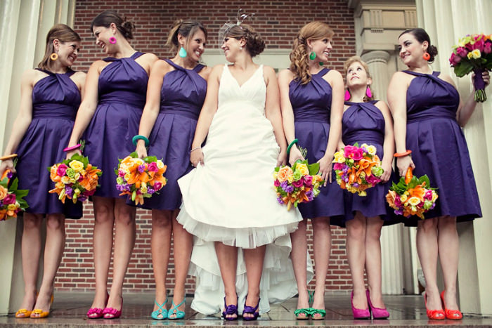 Multi Coloured Bridal Shoes
