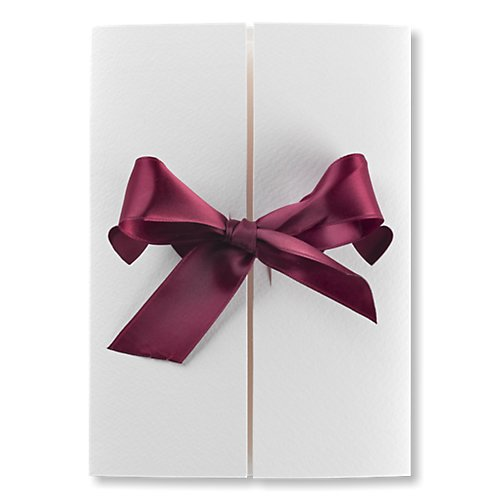 autumn ribbons wedding invitation