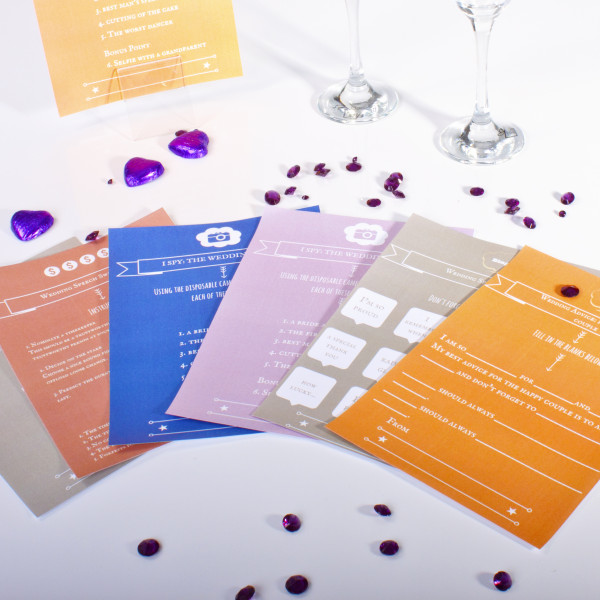 4 free printable wedding table games for 10 x table game