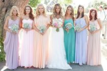 mismatched bridesmaid
