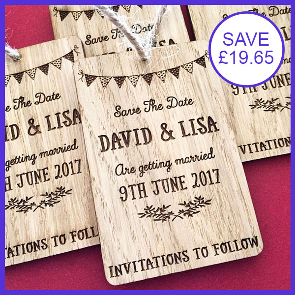 Bunting Wooden Save The Dates