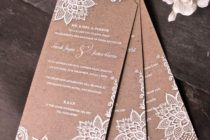 Chiffon & Lace Invitation