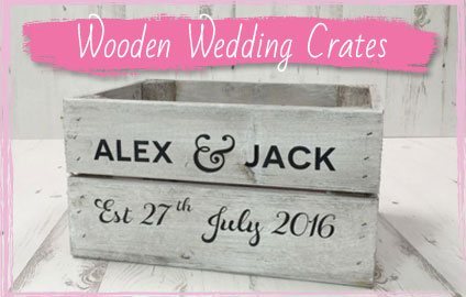 Wooden Wedding Crates