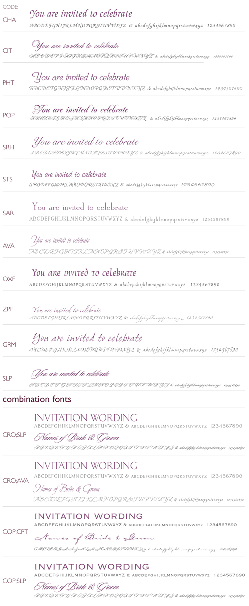 Wedding Lettering Styles
