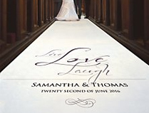 Personalised Aisle Runner