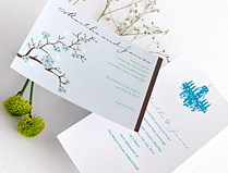 Blue & Green Wedding Invitations