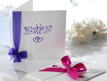 Purple & Pink Wedding Invitations