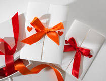 Red & Orange Wedding Invitations