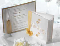 Yellow & Gold Invitations