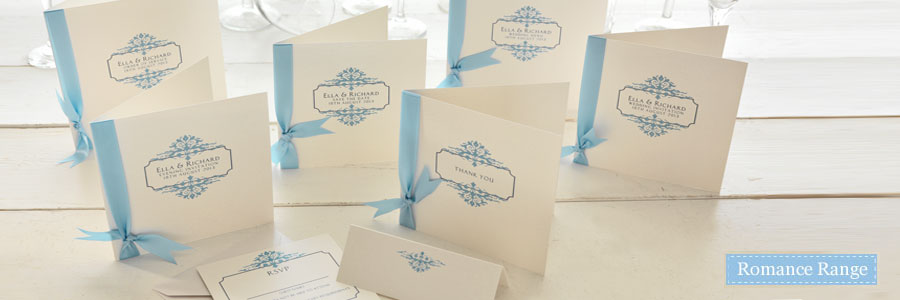 Designer Mandalay - Romance Blue Invitations